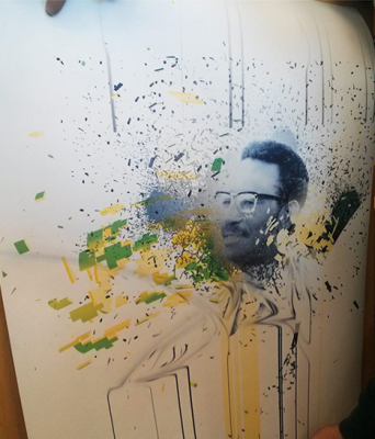 Peinture de Cheick Anta Diop.
