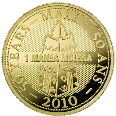 Pièce d'or « Mansa Moussa » pour célébrer le cinquantenaire du Mali.